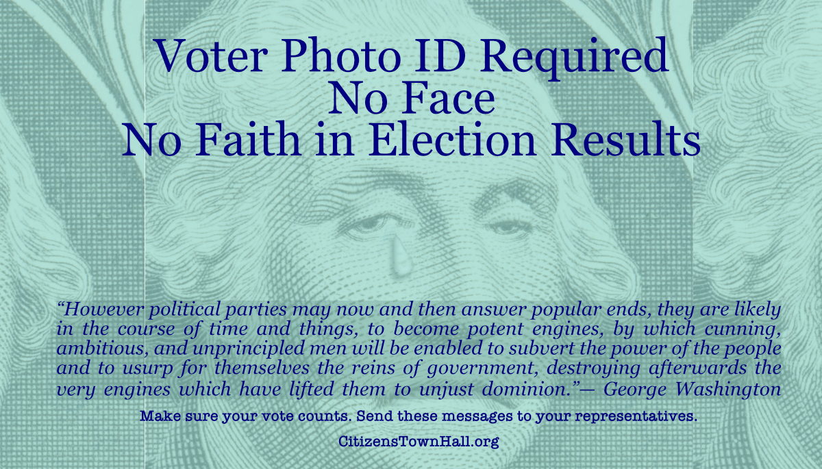 Voter Photo ID – No Face – No Faith in Elections